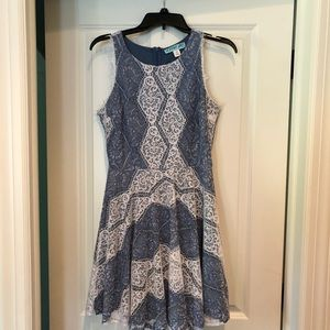 Lace Blue and White Dress